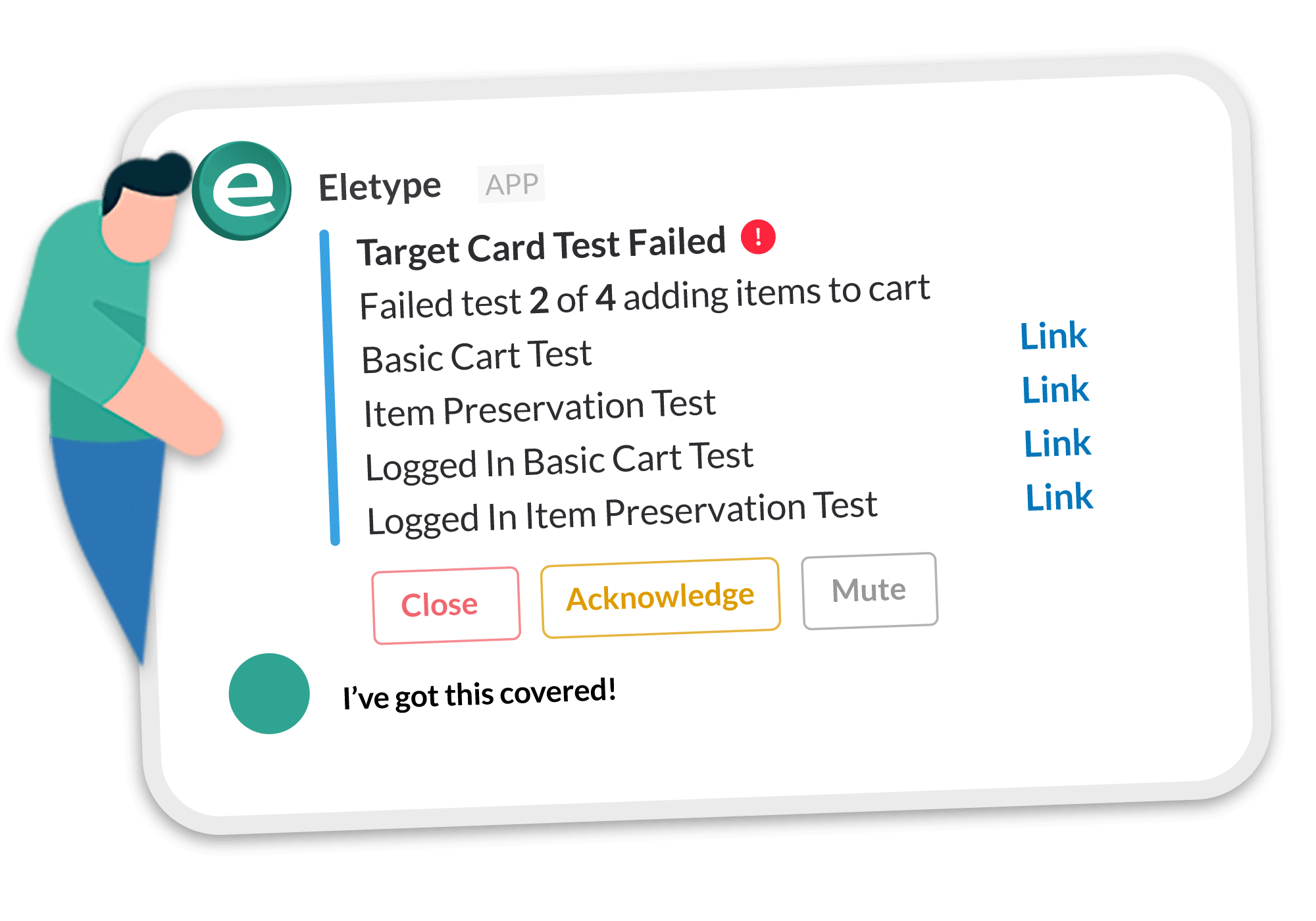 Ecommerce and Shopping Cart Monitoring with Eletype
