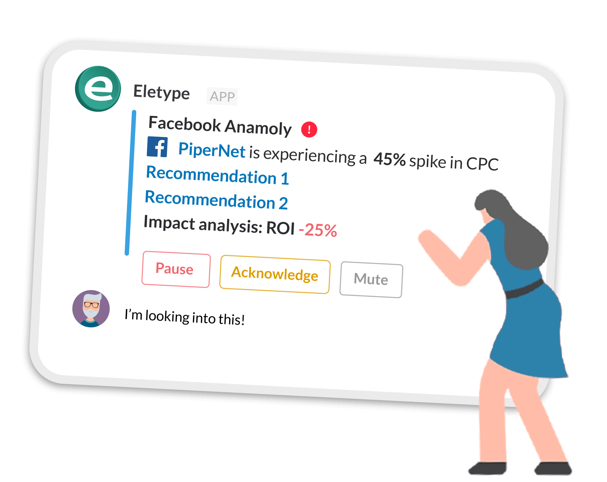 Landing Page Monitoring on Slack with Eletype